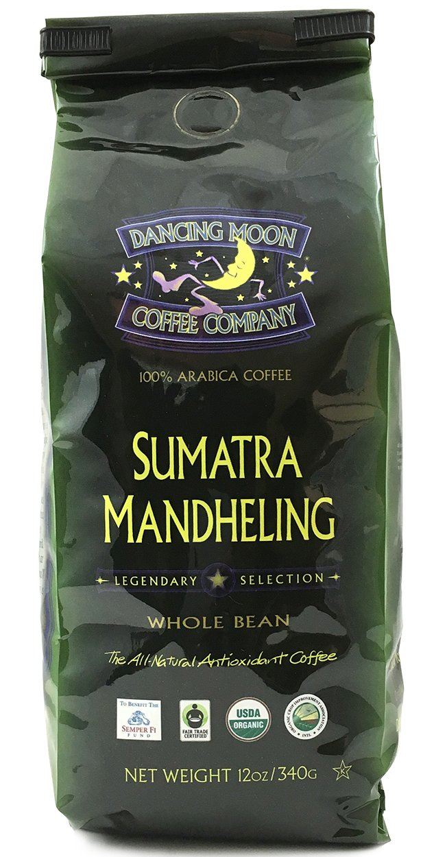 2-Pack 12 oz. Fashion Dancing Moon Bean Coffe Sumatra Max 47% OFF Mandheling Whole