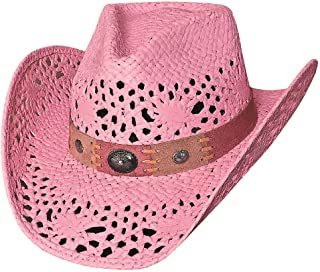 231a7225ce7 Bullhide Montecarlo Pure Country Toyo Straw Western Hat Pink Medium