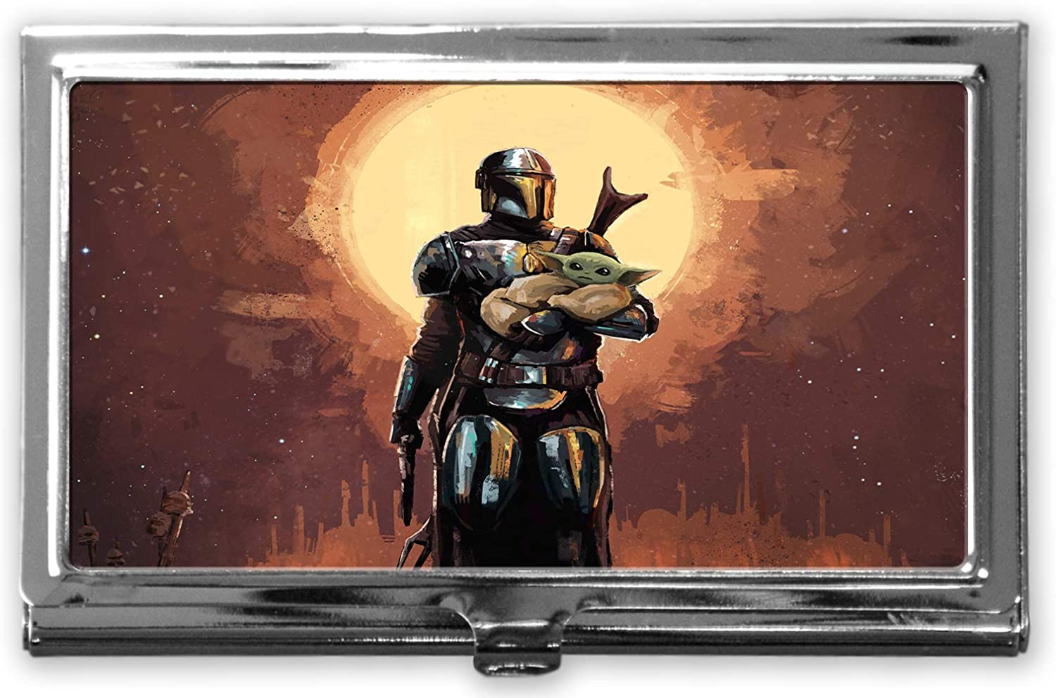 Mandalorian Custom Business Card Holder Case and for Men S Complete Free Sale Special Price Shipping Women
