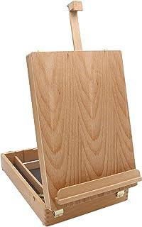 Paintersisters Luca - Maletín de pintura (madera de haya FSC®, caballete para mesa con maletín de utensilios, bastidor de hasta 60 cm de altura)