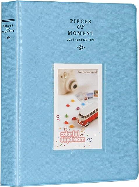 Cpano 128Bolsillos álbum de Fotos para Fujifilm Instax Mini 87S 9252650s 90 SP-2 SP-1 Polaroid Z2300 PIC-300P de 3 Pulgadas Polaroid películas y Tarjeta de Nombre