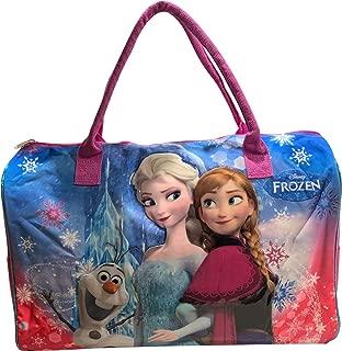 "Frozen Elsa, Anna & Olaf 20"" Carry-On Duffel Bag (Pink-Blue-Purple)"