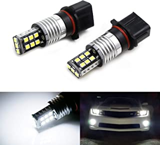 iJDMTOY Xenon White 15-SMD High Power P13W 12277 LED Light Bulbs For Daytime Running Lamps (DRL) or Fog Driving Lights