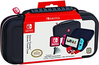 NINTENDO SWITCH DELUXE TRAVEL CASE - PREMIUM HARD CASE MADE WITH BALLISTIC NYLON, SECURE TIGHT FIT FOR YOUR SWITCH AND GAMES. DESIGNED TO PROTECT SWITCH'S ANALOG STICKS. BONUS: TWO MULTI-GAME CASES