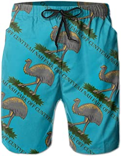 Aussie Gadsden Flag Men's Swim Trunks Bathing Suit Beach Shorts