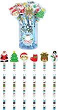 Christmas Pencil with Eraser - Pack of 24  (Assorted Designs and colours)