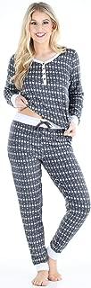Sleepyheads Women's Knit Long Sleeve Henley and Pant Pajama Set