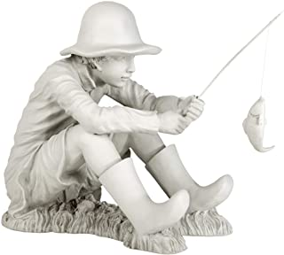Best Design Toscano EU9288 Gone Fishing Fisherman Boy Garden Statue, 17 Inch, Two Tone Stone Review