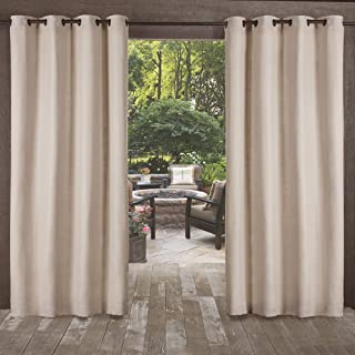 Exclusive Home Curtains Delano Grommet Top Panel Pair, Taupe, 54x108, 2 Piece