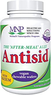 Michael's Naturopathic Programs Antisid - 90 Chewable Vegan Wafers - The After Meal Ally, Contains Calcium, Marshmallow Ro...