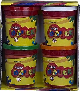 Wow Play Dough Set, 4 Buckets - 125 gm