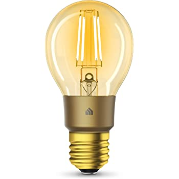 Kasa Smart Wi-Fi LED Bulb by TP-Link, Filament A19 E26 Smart Light Bulb, Warm Amber 2000K, Dimmable, No Hub Required,Compatible with Alexa & Google Assistant,Antique Vintage Style (KL60)