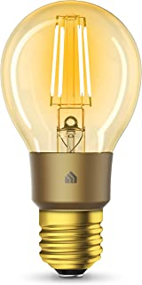 Kasa Smart Wi-Fi LED Bulb by TP-Link, Filament A19 E26 Smart Light Bulb, Warm Amber 2000K, Dimmable, No Hub Required,Compa...