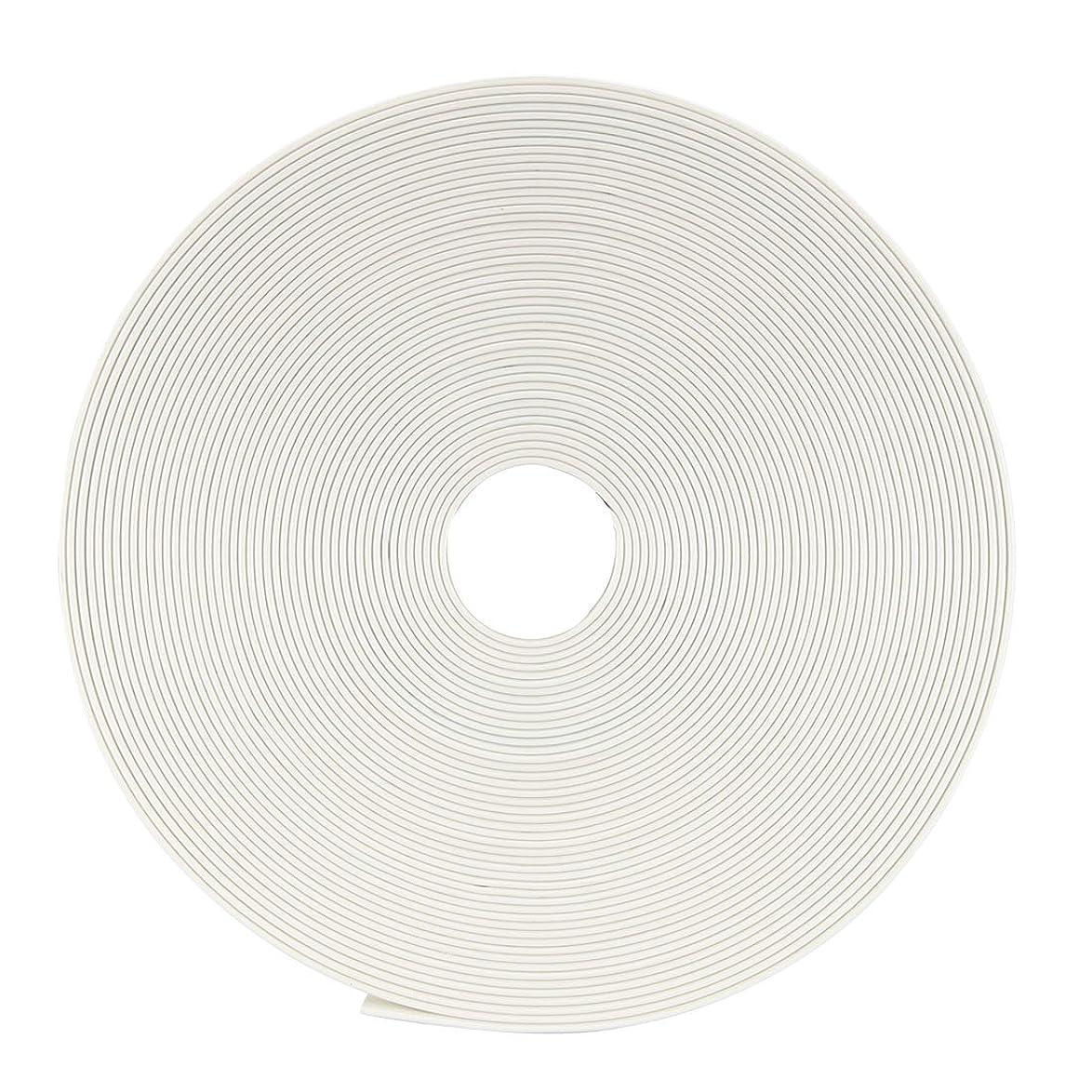 忠誠誠実ブリリアントuxcell 電気絶縁チューブ 熱収縮チューブ ワイヤ接続チューブ 縮小率2:1 直径8mm 長さ10m ホワイト