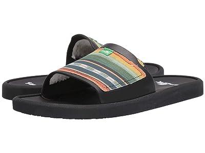 Sanuk Beachwalker Slide TX (Black Multi) Men