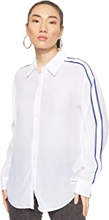 Calvin Klein Jeans Women's RELAXED TAPE FAUX SILK Shirt