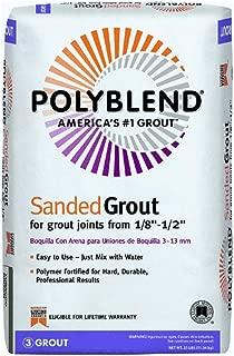 Custom BLDG Products PBG18025 Polyblend Tile Grout, 25 Lb, Bag, No 180 Sand Stone, Solid Powder