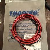 Fil /électrique 12 AWG Calibre 12 Silicone Branchez Fil c/âble 3 m souple et flexible 680 brins 0,08 mm de fil de cuivre /étam/é haute r/ésistance /à la temp/érature 1.5 m Noir et rouge 1.5 m