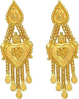 Popleys 22k (916) Yellow Gold Drop Earrings