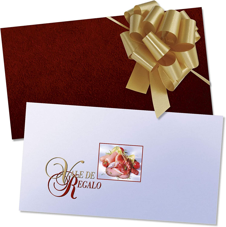 50 tarjetas de regalo de alta calidad + 50 sobres + 50 lazos con motivos para carnicería carnicero portada afinada con brillo intenso. M1210E