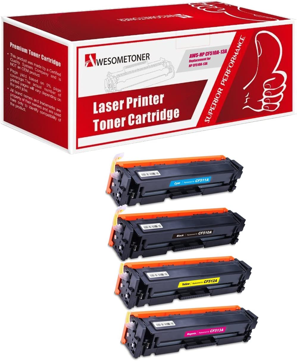 Awesometoner Compatible Toner Don't miss 4 years warranty the campaign Cartridge for HP Replacement CF510
