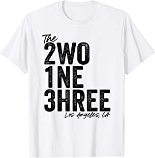 The 213 Los Angeles California Area Code Family Love Gift T-Shirt
