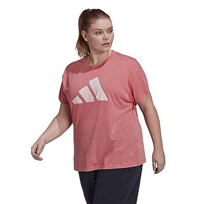 adidas Plus Size Win 2.0 Tee (Hazy Rose Melange) Women