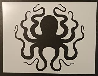 giant squid stencil