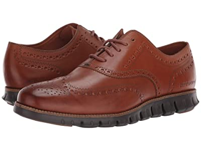 Cole Haan Zerogrand Wingtip Oxford Leather (British Tan Leather/Java) Men