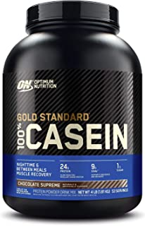 Optimum Nutrition Gold Standard 100% Casein Protein Powder - Chocolate Supreme, 1.82 Kilograms