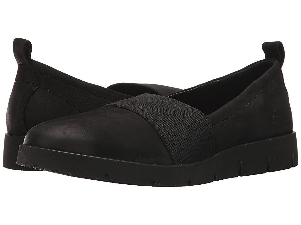 ECCO Bella Stretch Slip-On (Black Cow Nubuck) Women