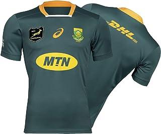 Rugby Maillot 2019 Coupe du Monde Surv/êtements South Africa Home//Away Football Soccer T-Shirt dEntra/înement Respirant Textile Afrique du Sud /à Domicile///à lext/érieur