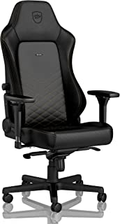 noblechairs Hero Gaming Chair - Office Chair - Desk Chair - PU Leather - 330 lbs - 125° Reclinable - Lumbar Support - Racing Seat Design - Black/Gold