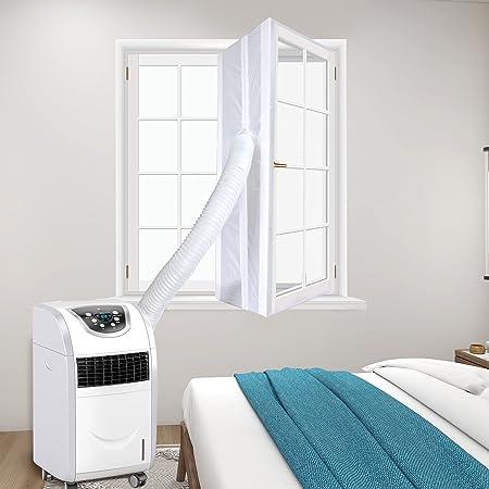 400 CM Guarnizione per finestra universale Airlock per condizionatore d'aria portatile, adatto per finestre a battenti Fermo aria calda - Facile da installare con cerniere e guarnizioni per finestre