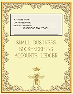 Small Business Book-Keeping Accounts Ledger: Large Book-keeping ledger for the small business and self-employed - Cream an...