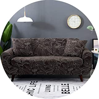 Lady night Slipcover Gray Sofa Cover Stretch Furniture Covers Elastic Sofa Covers,Color 6,1-Seater(90-140Cm)