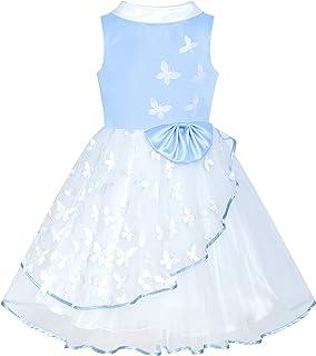 子供ドレス フラワードレス 結婚式 発表会 白 と ブラック 蝶 パーティー 115/125/130/140/150cm