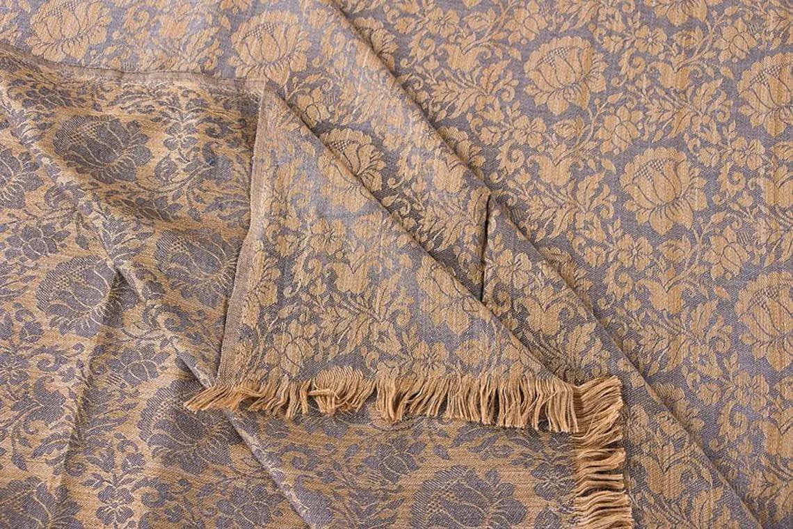 Cotton Silk Throw Blanket trend rank in Fort Worth Mall Pattern Grey Ex Beige Floral