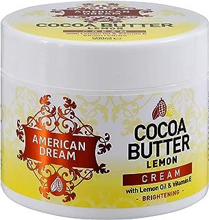 American Dream Cocoa Butter Lemon Brightening Cream Infused with Lemon Oil & Vitamin E 500ml