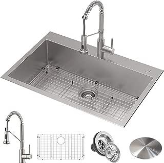 Kraus KCA-1102 Stark Kitchen Sink and Faucet, 33