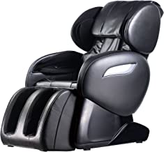 Zero Gravity Full Body Electric Shiatsu UL Approved Massage Chair Recliner with Built-in Heat Therapy and Foot Roller Air Massage System Stretch Vibrating for Home Office PS4,Black