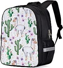 School Backpack for Teen Girls Boys, Alpaca Camel Cactus Kids' Schoolbag Durable Personalized Child Book Bag