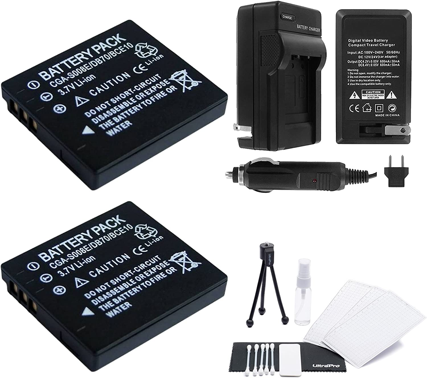 Indianapolis Mall 2-Pack DMW-BCE10 High-Capacity Replacement Ranking TOP7 with Batteries Rapid