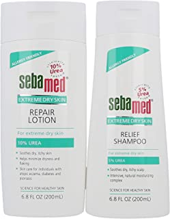 Sebamed Extreme Dry Skin 5% Urea Shampoo (200mL) and 10% Urea Lotion Advanced Therapy for Dry Itchy Skin and Scalp (Value Pack)