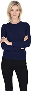 Cashmeren Crew Neck Pullover 100% Cashmere Long Sleeve Sweater for Women