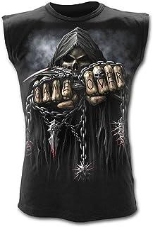 Espiral Game Over Camiseta sin mangas para hombre, color negro