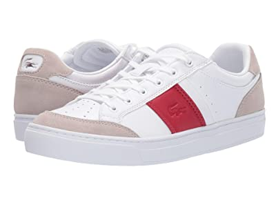Lacoste Courtline 319 1 US (White/Red) Women