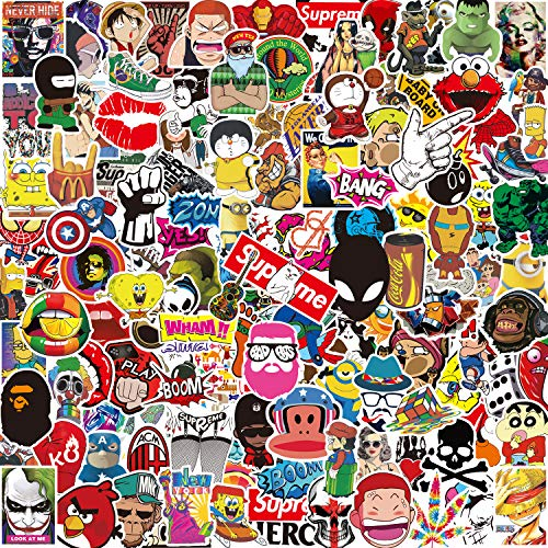 Stickers Pack [150-PCS] Q-Window Personalised Vinyl Graffiti Decals for Laptop Car Kids Book Skateboard Moto Bike Luggage Bumper Snowboard IPhone Macbook PS4 Xbox One Nintendo Bomb Reward Sticker