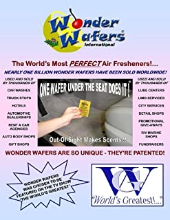 """Wonder Wafers 25 CT Individually Wrapped """"White"""" Air Fresheners"""