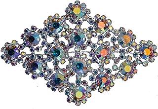 Trimming Shop Ab Estrás Motivo Diamante/Diamantes Cristal para Coser Parche Aplique Para Novia de la Boda Informal Formal Adorno Moda Accesorio 90mm x 60mm